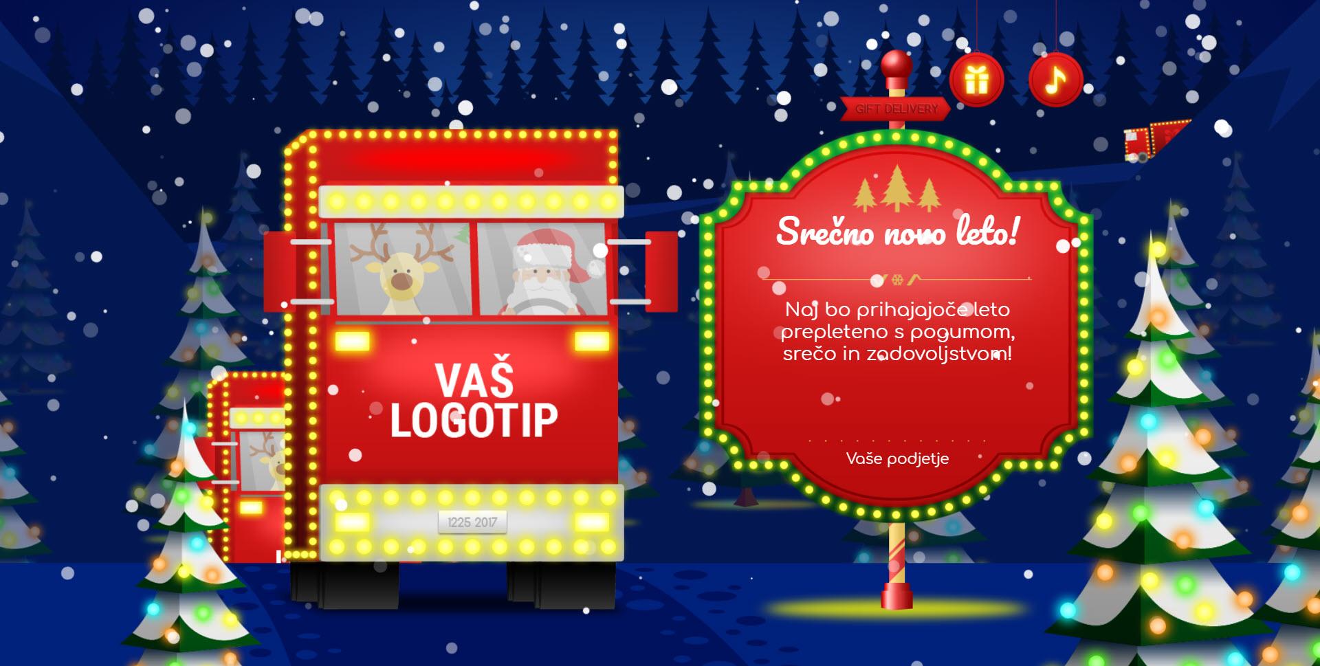 christmas card delivery of gifts version colorful - Naročilo voščilnice