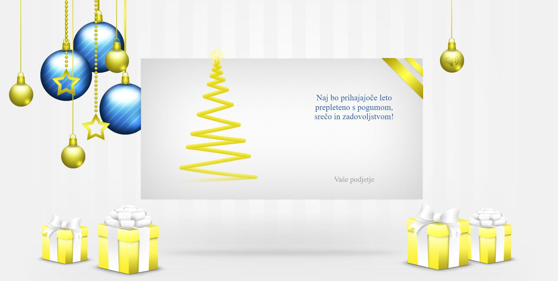 christmas card elegant version blue - Naročilo voščilnice