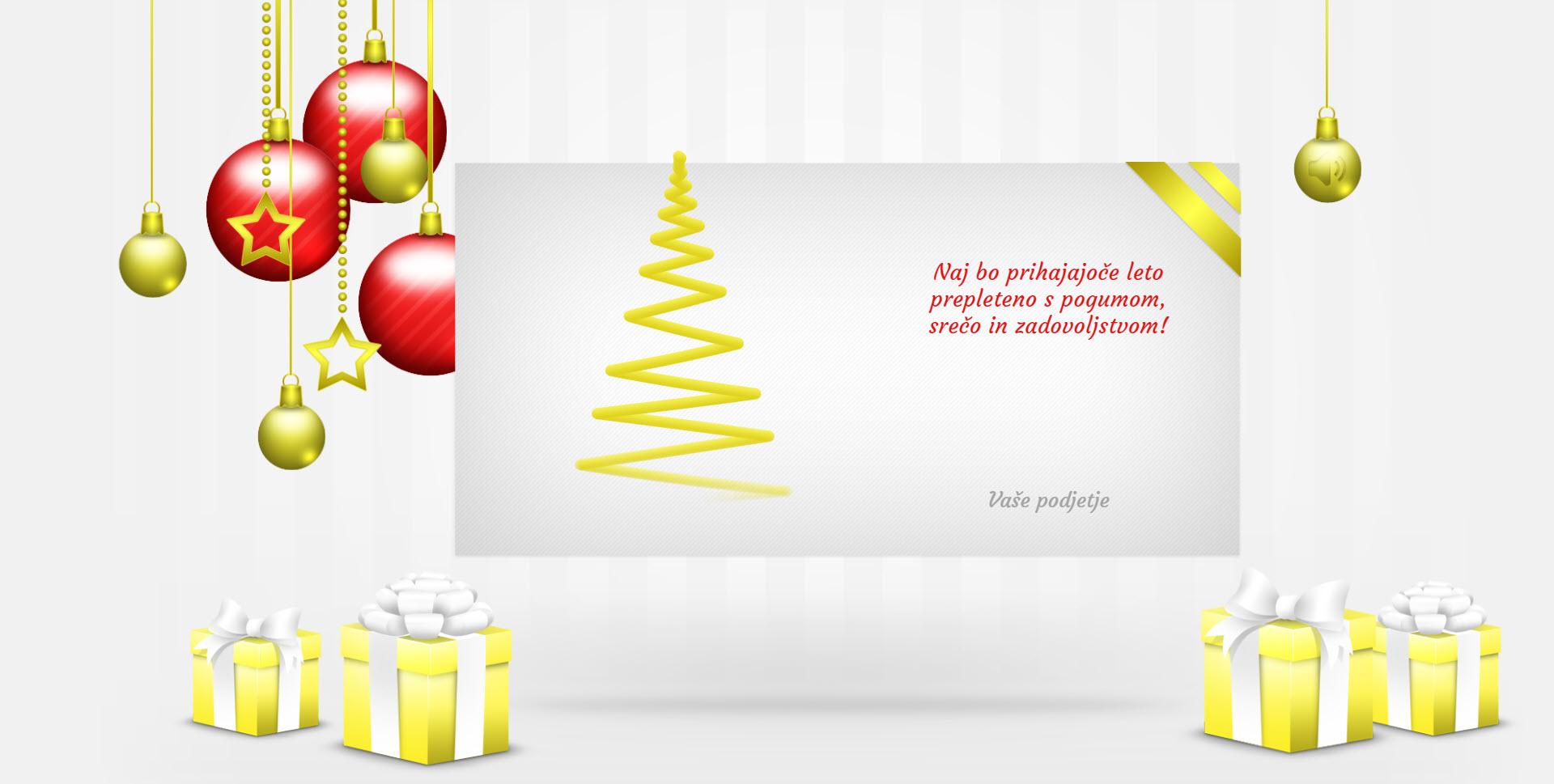 christmas card elegant version red - Naročilo voščilnice