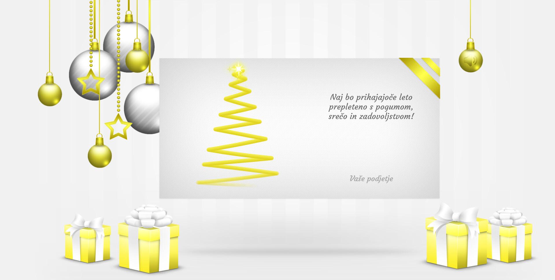 christmas card elegant version silver - Naročilo voščilnice