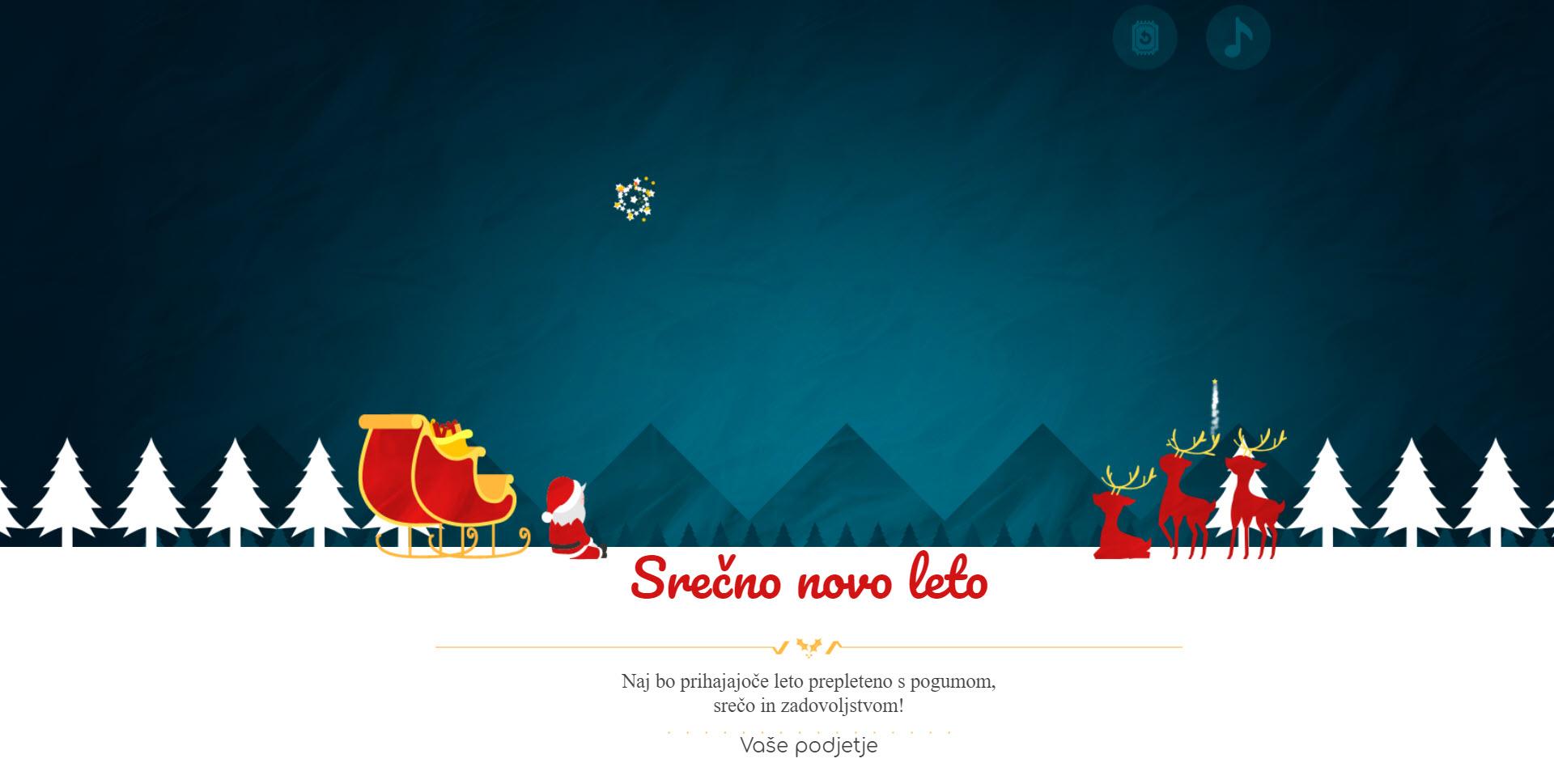 christmas card fireworks of santa version red - Naročilo voščilnice