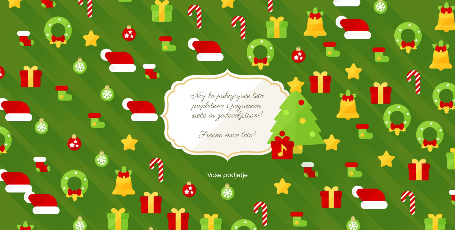 christmas card flat version green - Naročilo voščilnice