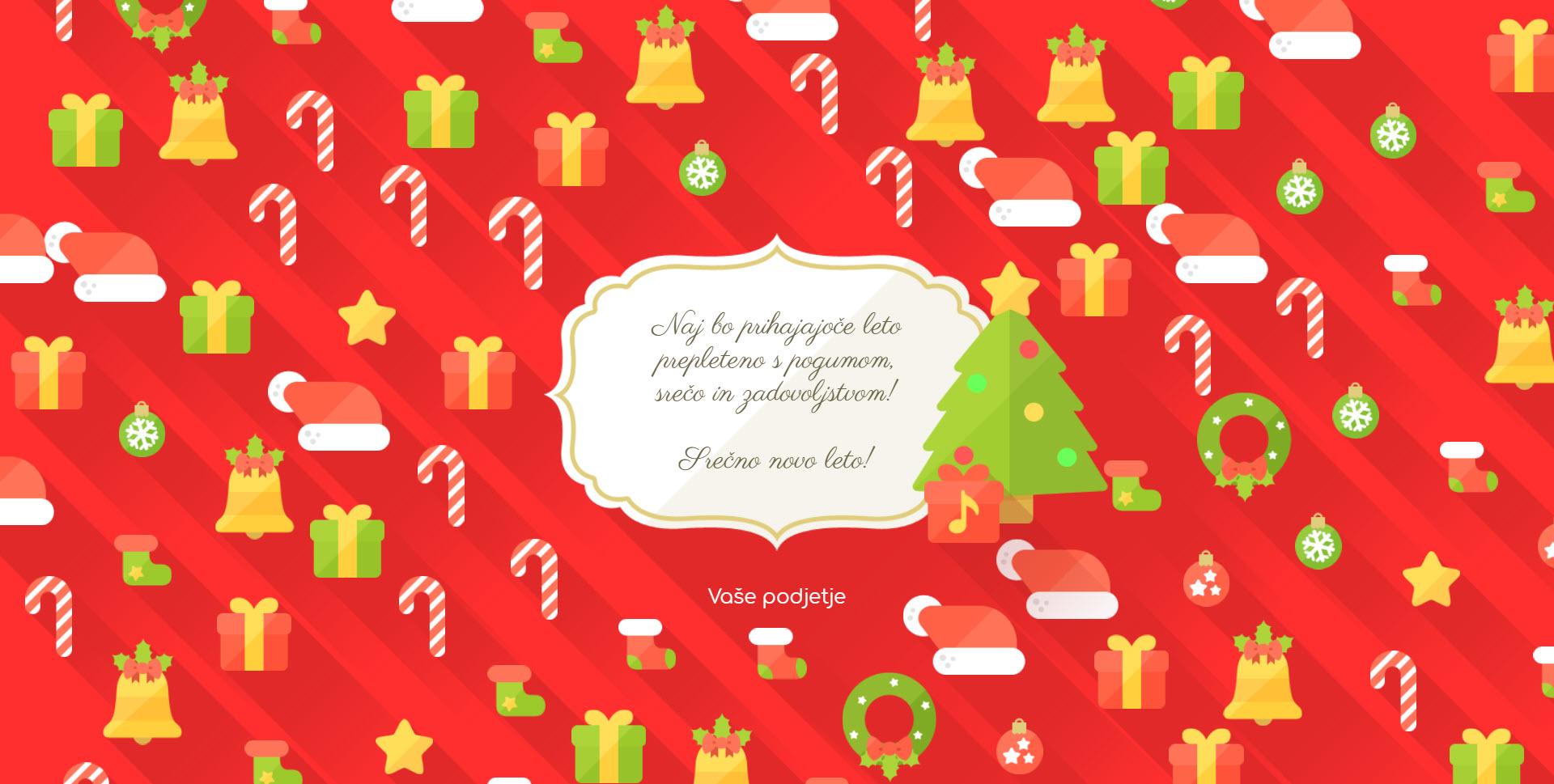 christmas card flat version red - Naročilo voščilnice