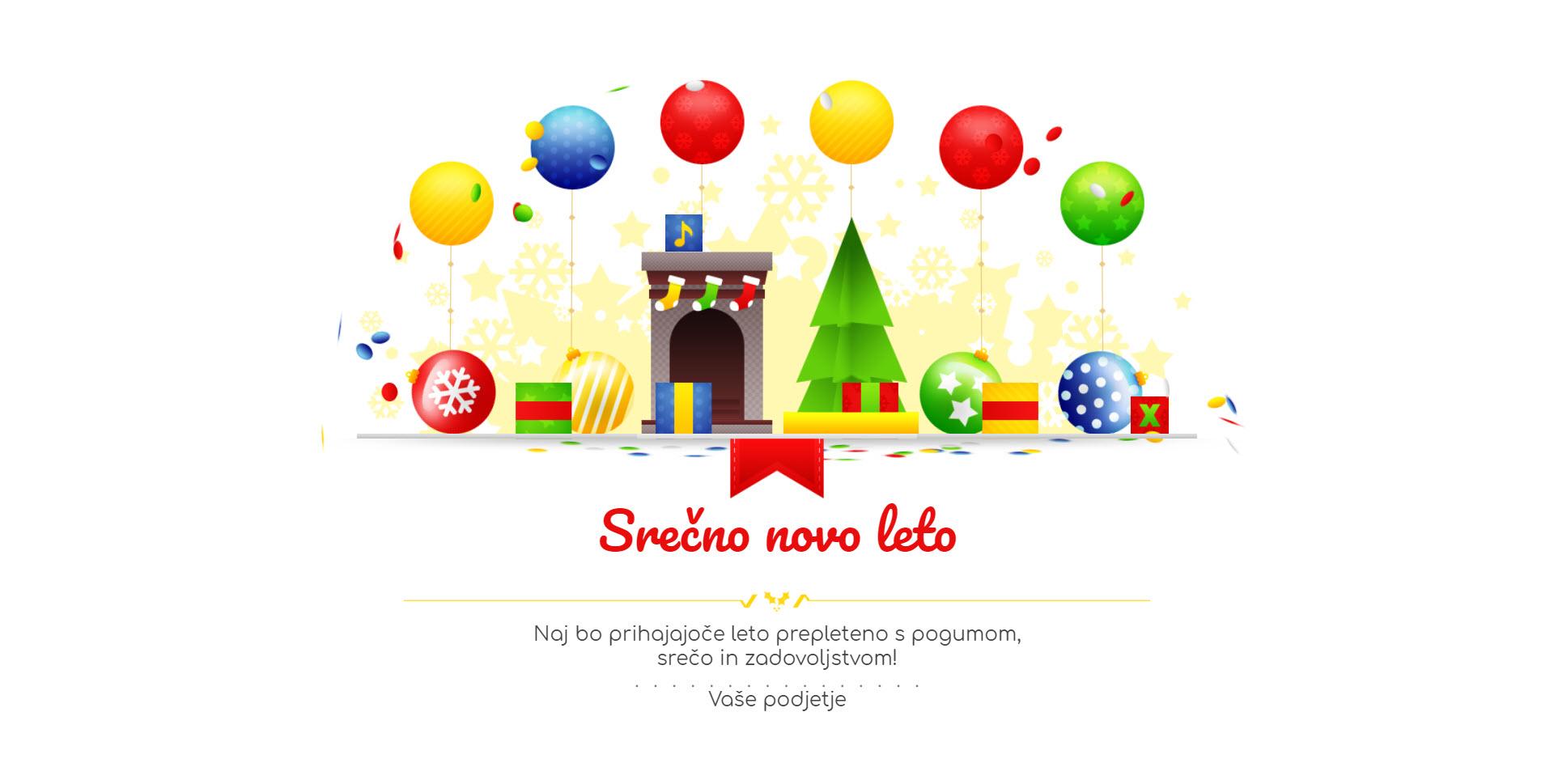 christmas card gift box version colorful - Naročilo voščilnice