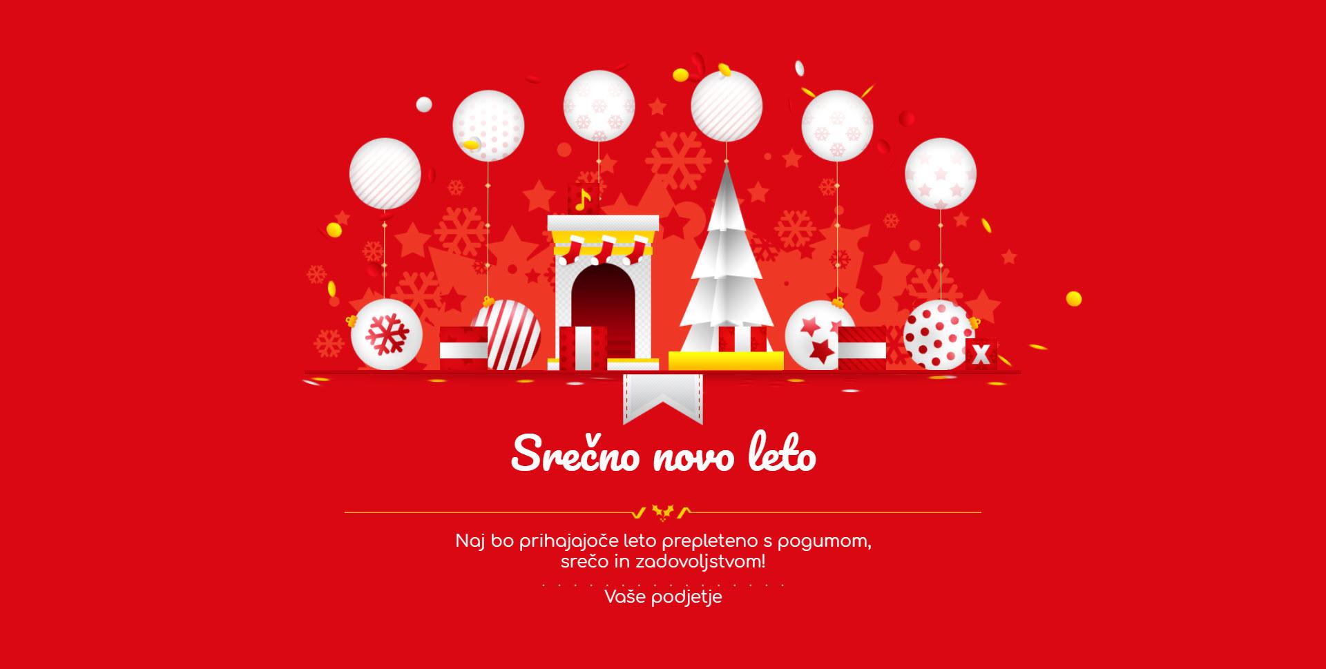 christmas card gift box version red - Naročilo voščilnice