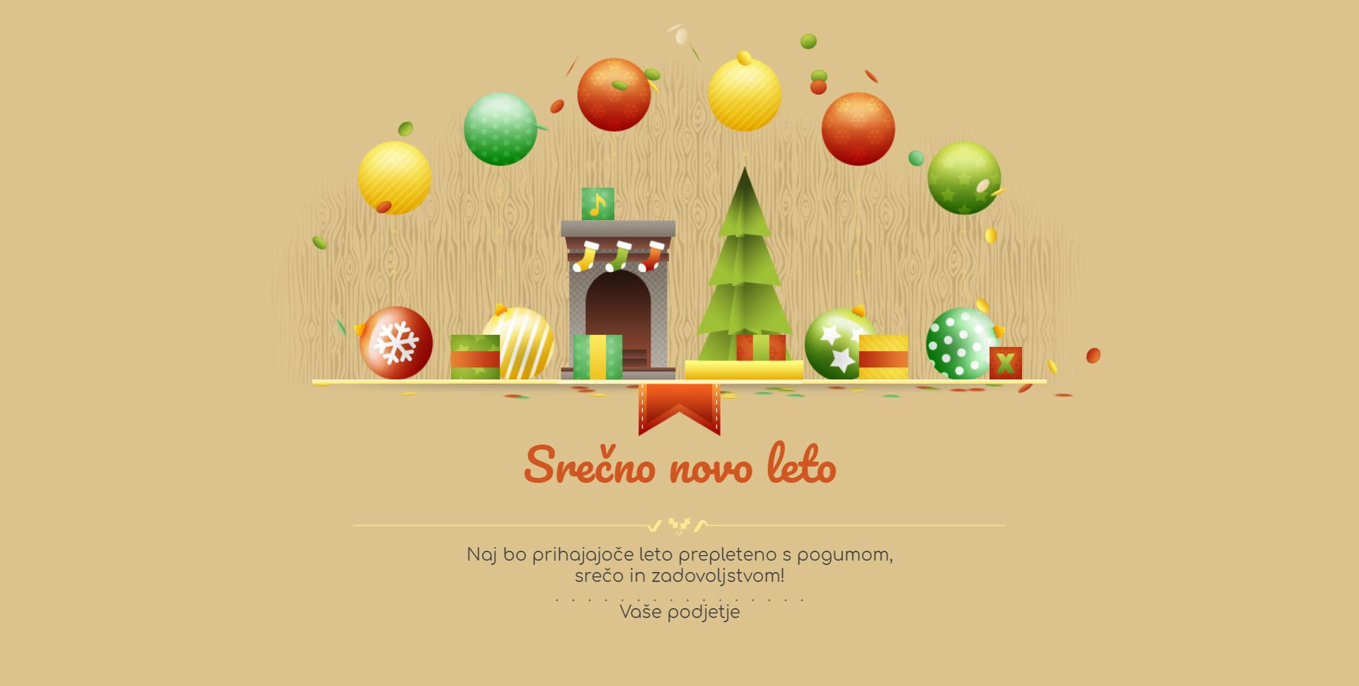 christmas card gift box version retro - Naročilo voščilnice