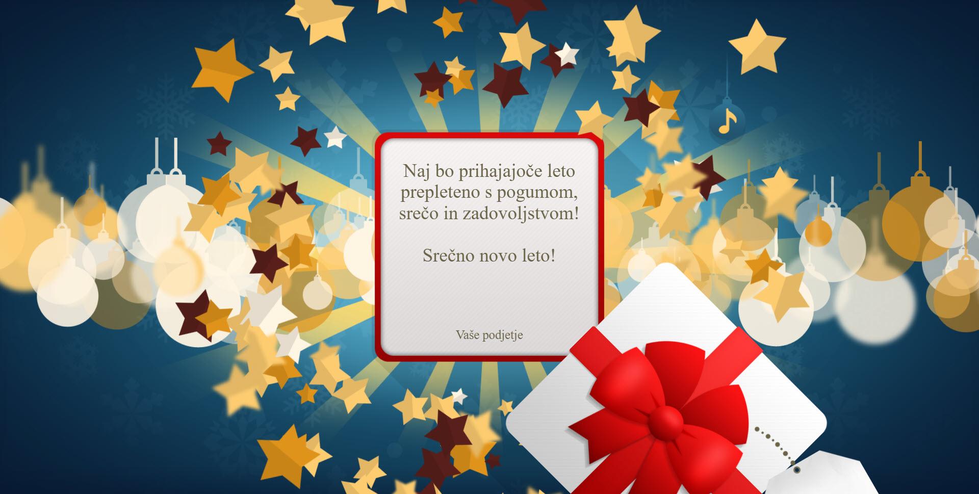 christmas card gift for you version blue - Naročilo voščilnice
