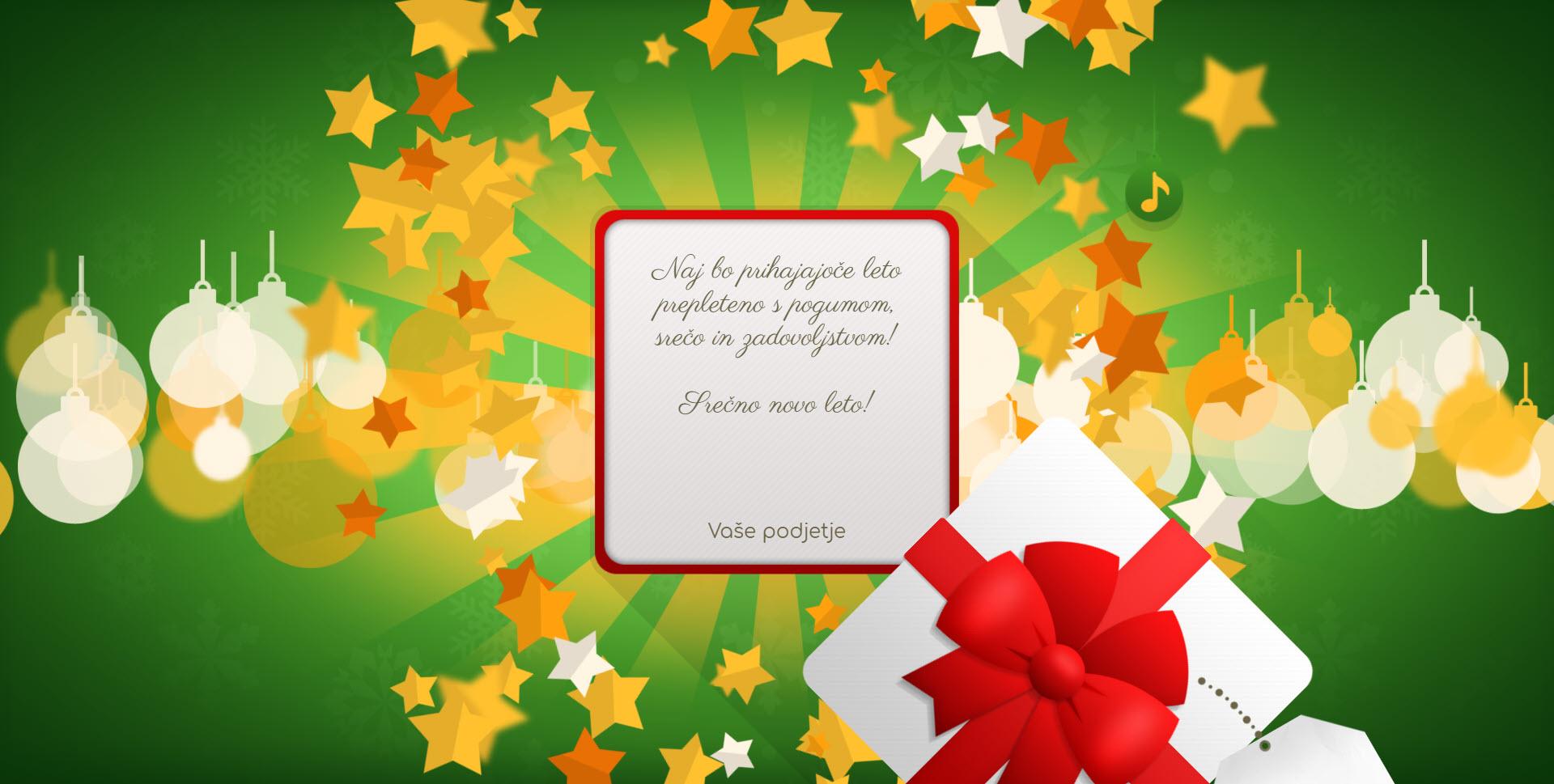 christmas card gift for you version green - Naročilo voščilnice