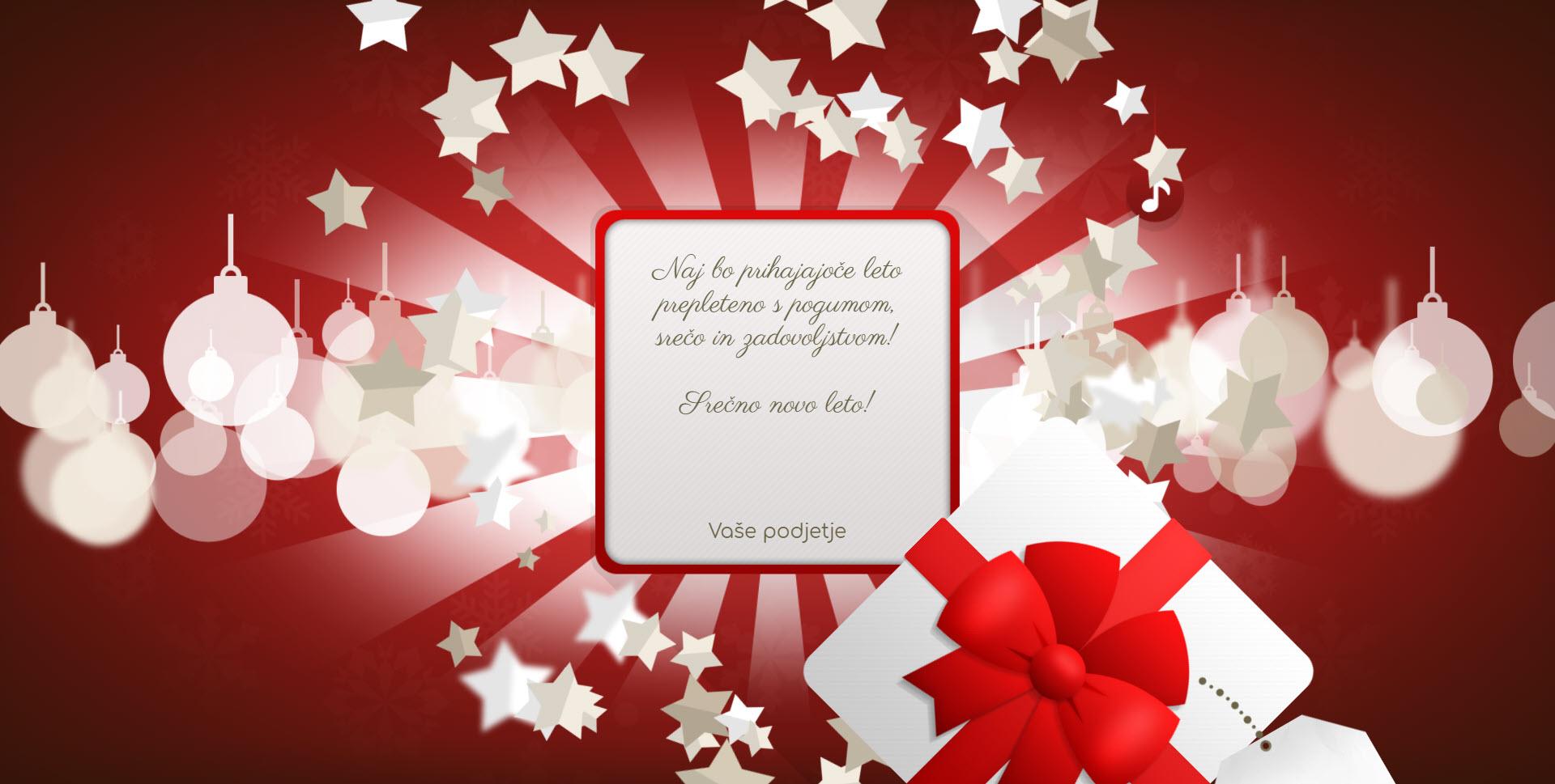 christmas card gift for you version red - Naročilo voščilnice