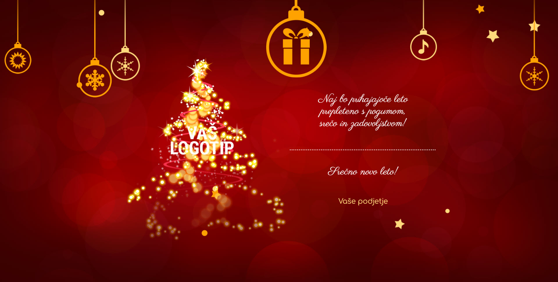 christmas card magic lights version red - Naročilo voščilnice