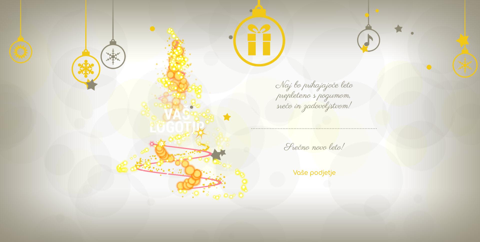 christmas card magic lights version white - Naročilo voščilnice
