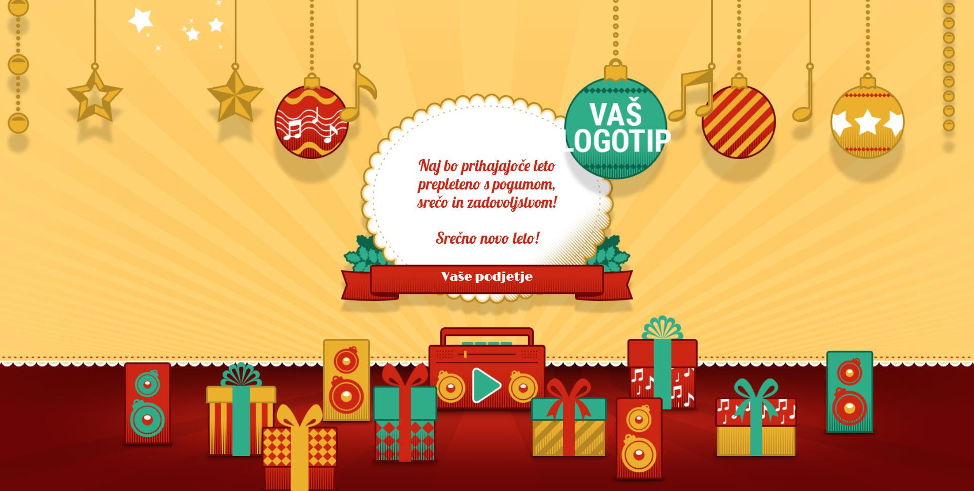 christmas card retro version red - Naročilo voščilnice