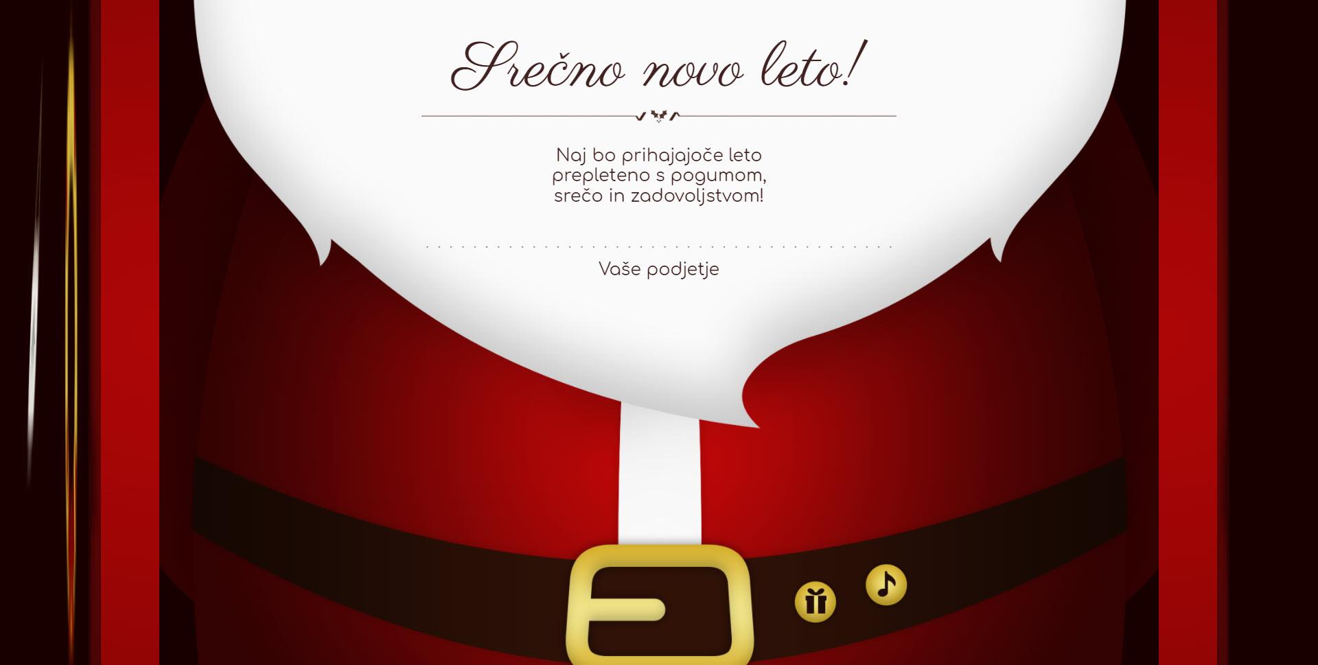 christmas card santa claus open the door version dark - Naročilo voščilnice