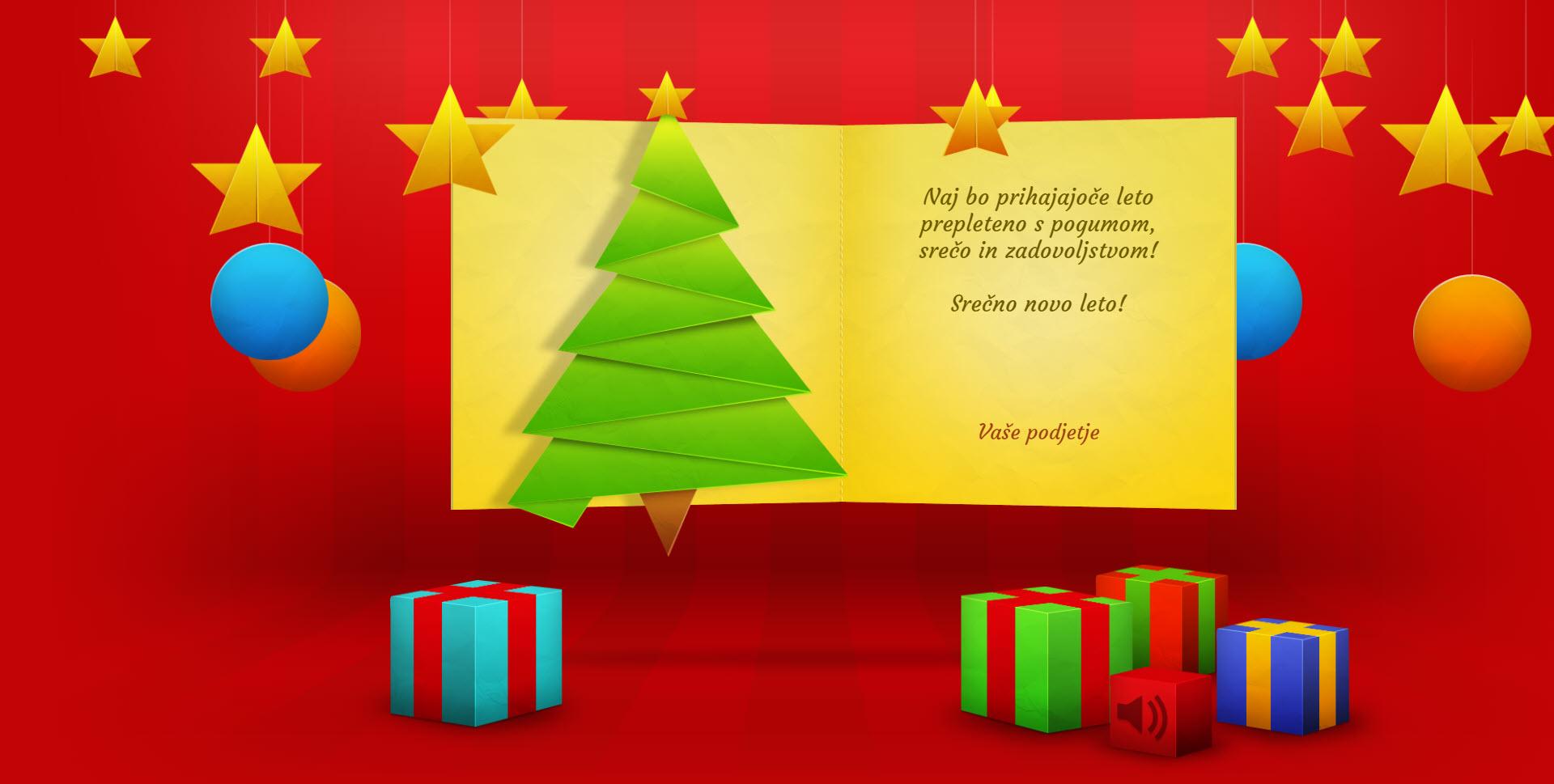 christmas card with many effects version red - Naročilo voščilnice